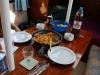 Steak, Kartoffeln und Vegi-Cordon Bleus :)