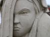 Wütende Meerjungfrau bei den Sandskulpturen